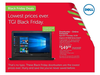 Leaked 2015 Black Friday ad: Dell