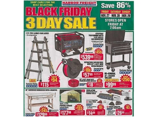 Harbor Freight's Black Friday ad leaked online