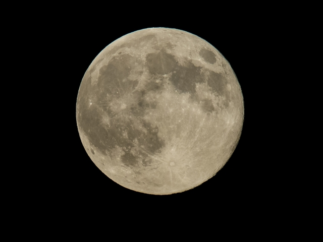 Full Snow Moon in the sky Monday night