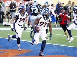 The Denver Broncos win Super Bowl 50