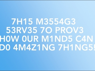 How your brain decodes this message