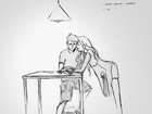 An artist sketched his wife every day for a year