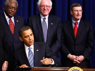What Sanders has said about challenging Obama