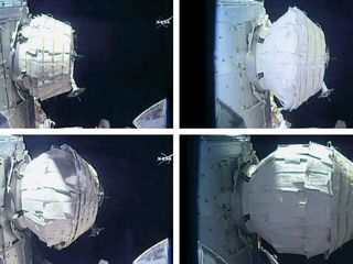 NASA expands inflatable habitat in space