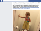 Bathroom photo of little girl goes viral