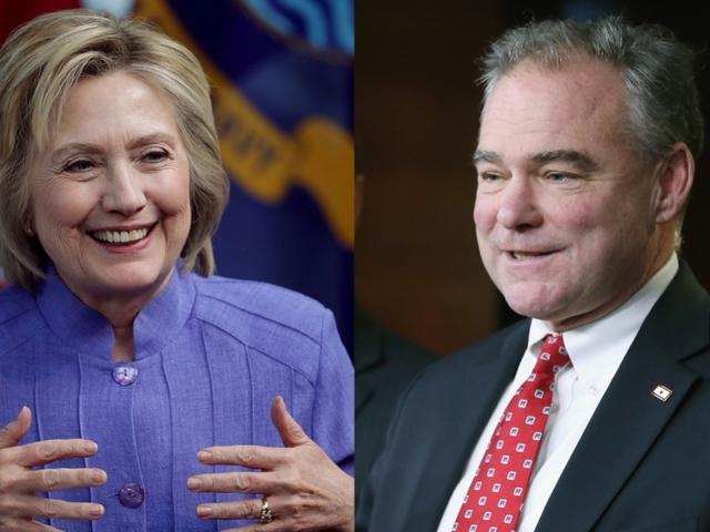 Hillary Clinton Chooses Virginia Sen. Tim Kaine