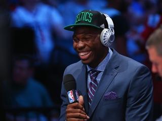 The NBA Draft had a lot of international players