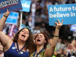 Sanders fans get emotional during DNC speech