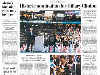 Media focused on Bill Clinton