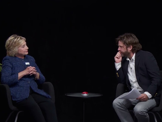 Hillary Clinton not too happy in 'Ferns' video
