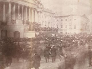 The first known presidential inauguration photo