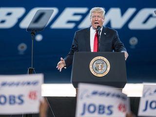 Trump focuses on jobs during Boeing speech