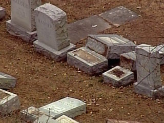 Police: Headstones damaged at Jewish cemetery