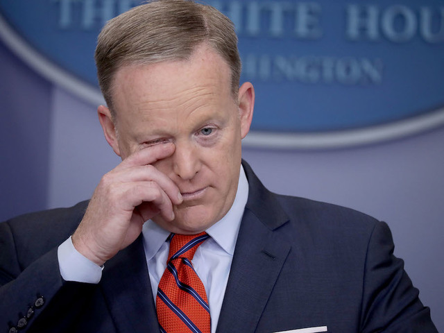Sean Spicer resigns in White House shakeup