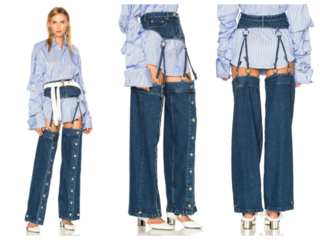 Trendy fashion label makes $570 crotchless jeans