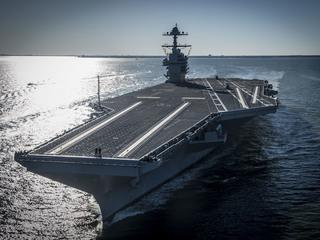 Peek at Navy's new $13 billion aircraft carrier